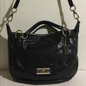 Authentic coach black leather handbag